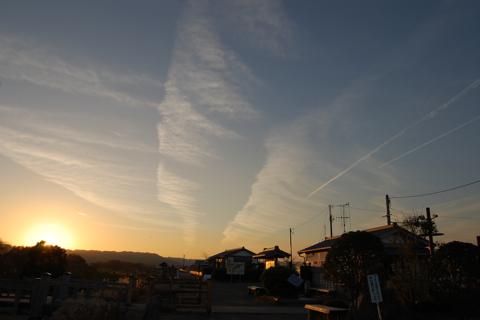 飛行機雲を重ねて描く 静岡旅行