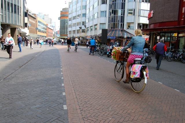 オランダの自転車専用道路
