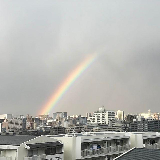 仕事がはかどりません♪ #虹 #rainbow #regenbogen