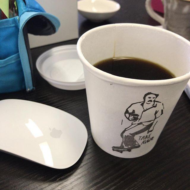 美味しかったので昨日に続いて今日も #リトルナップコーヒースタンド のコーヒーをテイクアウトで。
