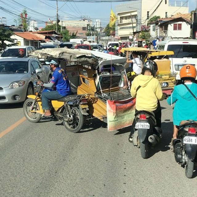 通勤(通学?)風景。動画ですが一貫して #今日の一点透視法 #cebu #philippines