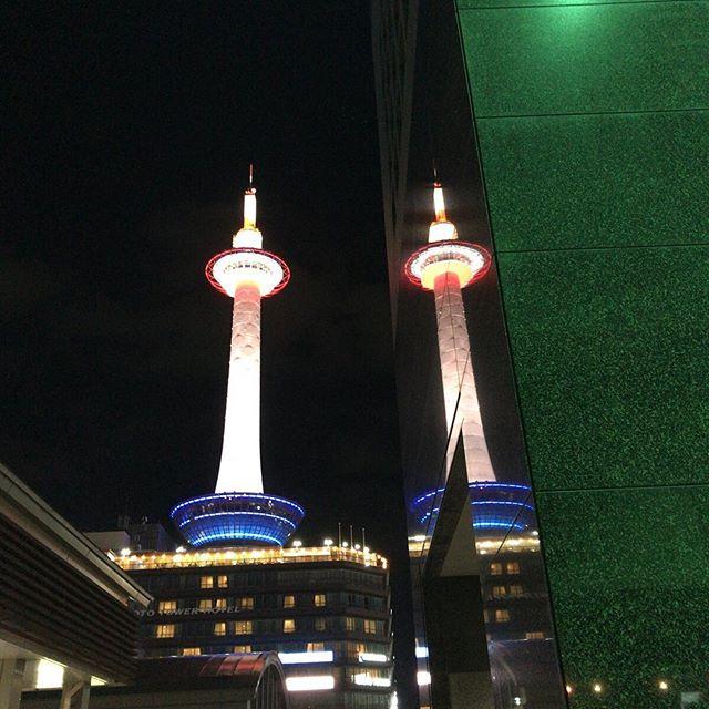 お客様をお迎えに京都駅に来たよ。ツインタワー!