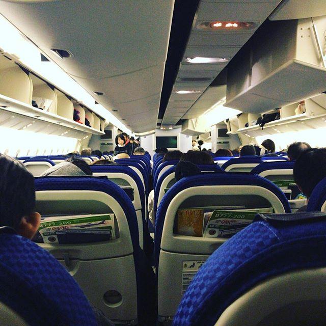 FUK-HND。家出てから手荷物検査場通過まで20分、そしてこの場所まで45分。多分最速。#今日の一点透視図法 #ana #飛行機好き