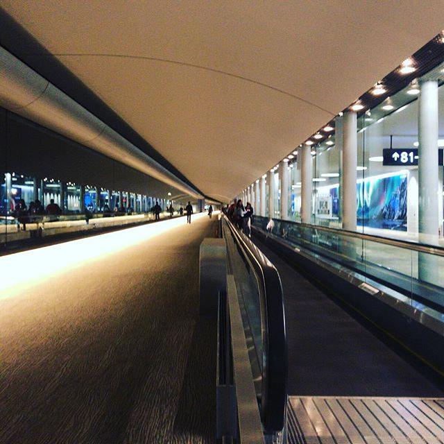 ダラス→成田の便、出発が3時間半遅れた。3時間半待ってからの13時間フライトはしんどかったー。#今日の一点透視図法