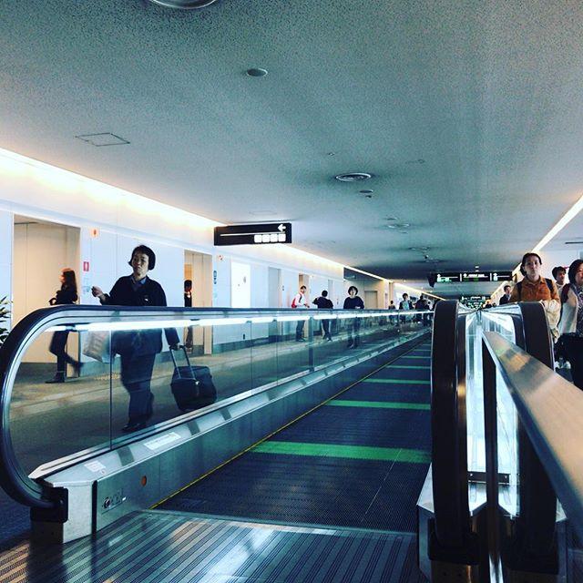 今日はコーヒー飲む時間もあるくらい余裕で空港到着できた。。。#今日の一点透視図法