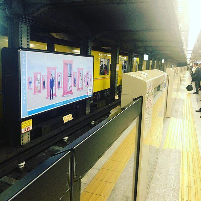 地下鉄の駅が暖かいと思うくらいに今日はひんやり秋の曇り。