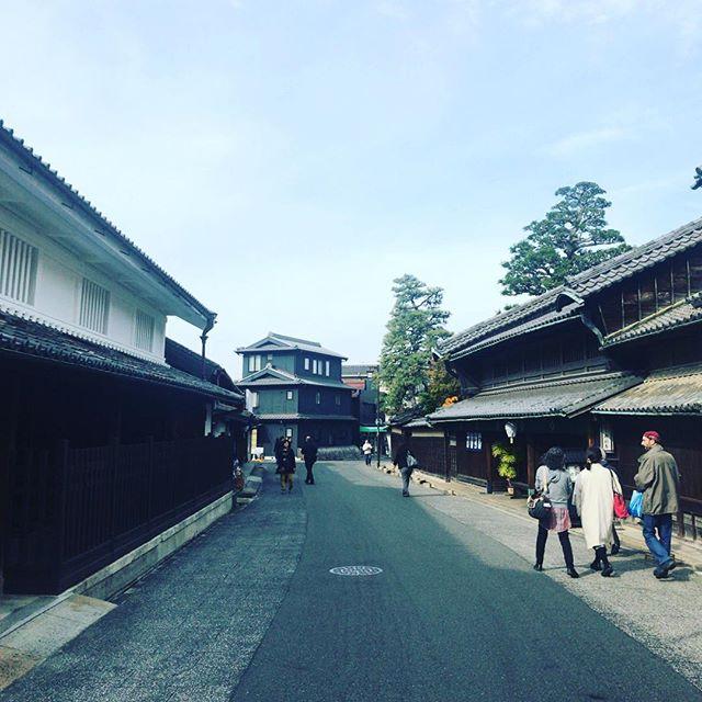 短い名古屋滞在。そのうちさらに短時間で有松というところに に行ったよ。#今日の一点透視図法