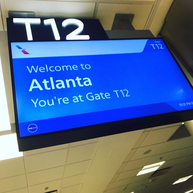 Arrived in Atlanta. First time to be in GA!