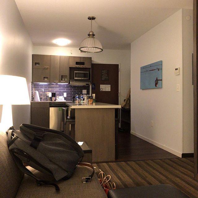 今日の部屋がなんなら(できればこのまま!)住みたい感じ。リビング&ダイニングと寝室が緩やかに隔てられてる。