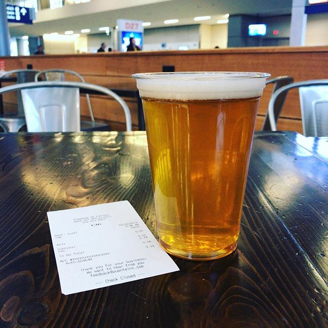 Last minute! Found this beer just in front of my boarding gate. Happy to finish this biz trip with a local IPA.