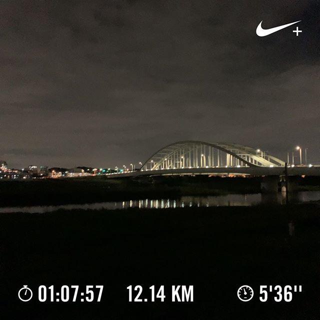 ♪大きな川を渡る〜橋が見える場所を・・・走りました。#nrc #running #jogging #ランニング #ジョギング